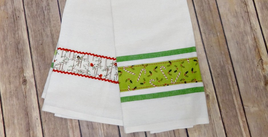 Easy Christmas Tea Towels