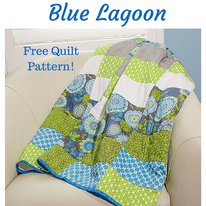 New Fabric: Blue Lagoon & Free Quilt Pattern - Fabric Editions Blog