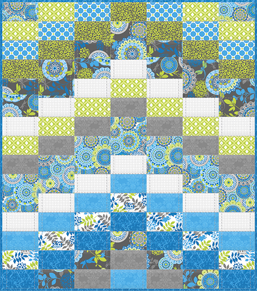 New Fabric: Blue Lagoon & Free Quilt Pattern - Fabric Editions Blog : lagoon quilt - Adamdwight.com